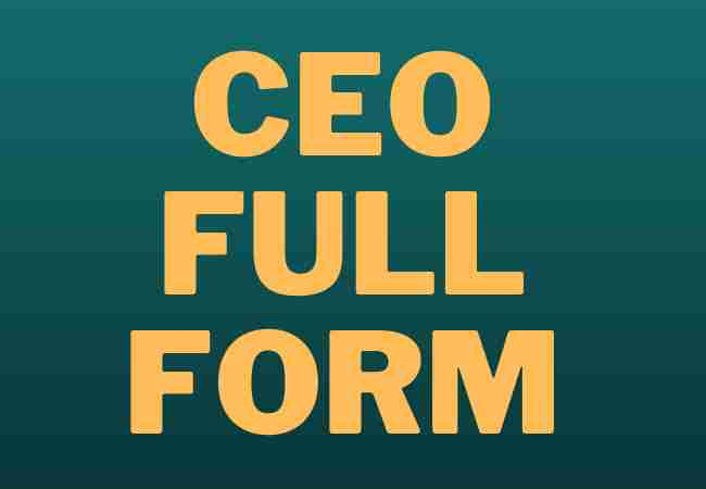 CEO-FULL-FORM